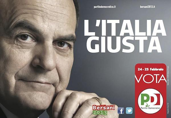 Il manifesto PD per Bersani