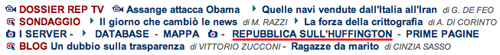 Screenshot di La Repubblica