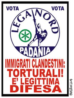 Il finto manifesto della Lega Nord
