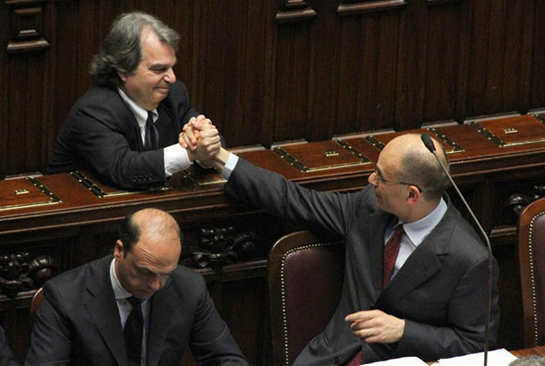 Letta stringe la mano a Brunetta