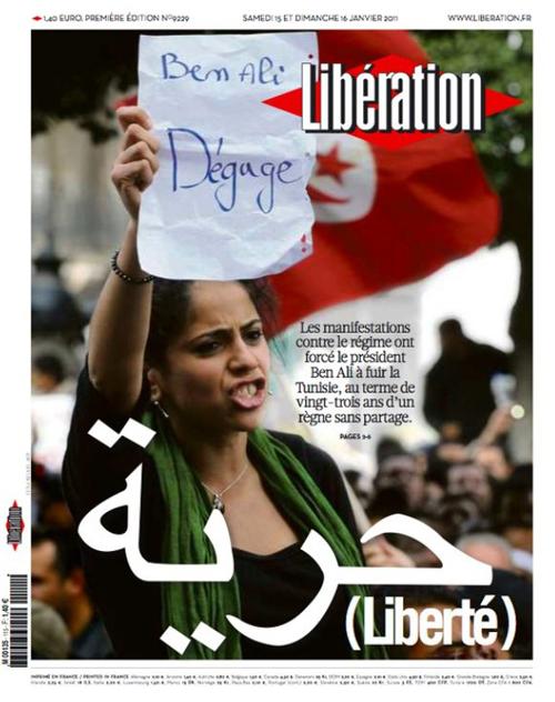 La prima pagina di Liberation