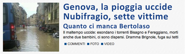 Screenshot di Libero