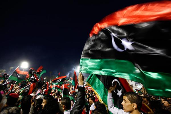 Tricolori libici a Tripoli