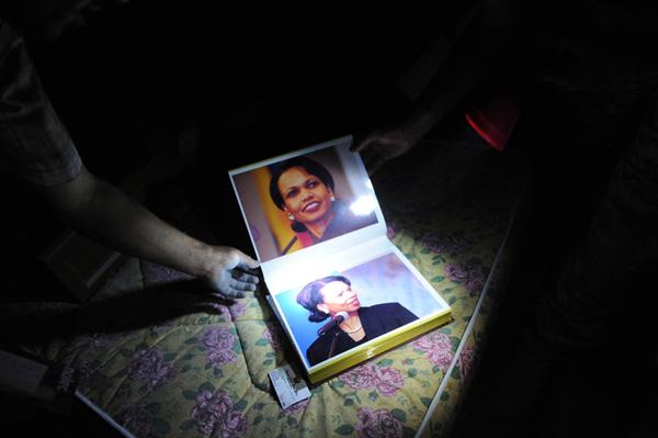 L'album di foto di Condoleezza Rice di Gheddafi