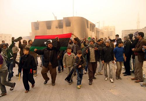 Manifestanti anti Gheddafi