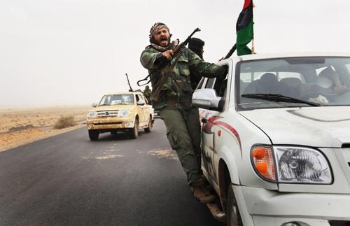 Miliziani ribelli libici