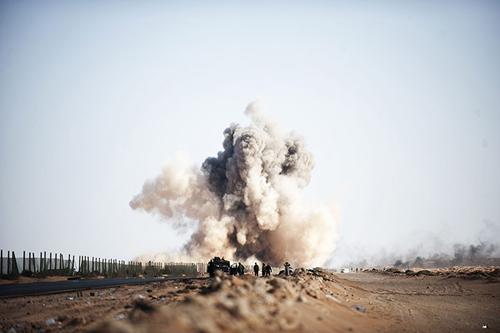 Scontri tra ribelli e l'esercito del colonnello Gheddafi