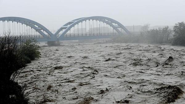 Il Polcevera a Genova durante l'alluvione del 2014