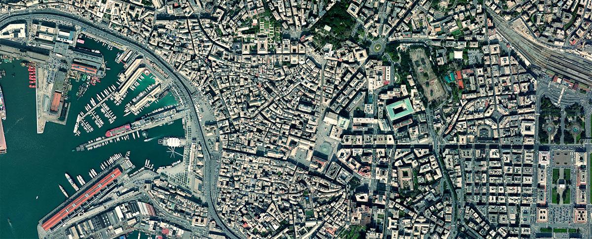Genova vista dallo spazio