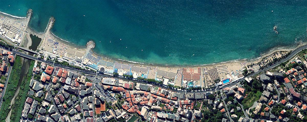 Albissola Marina vista dallo spazio