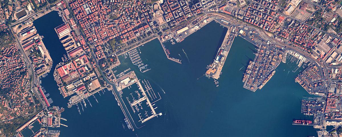 La Spezia vista dallo spazio