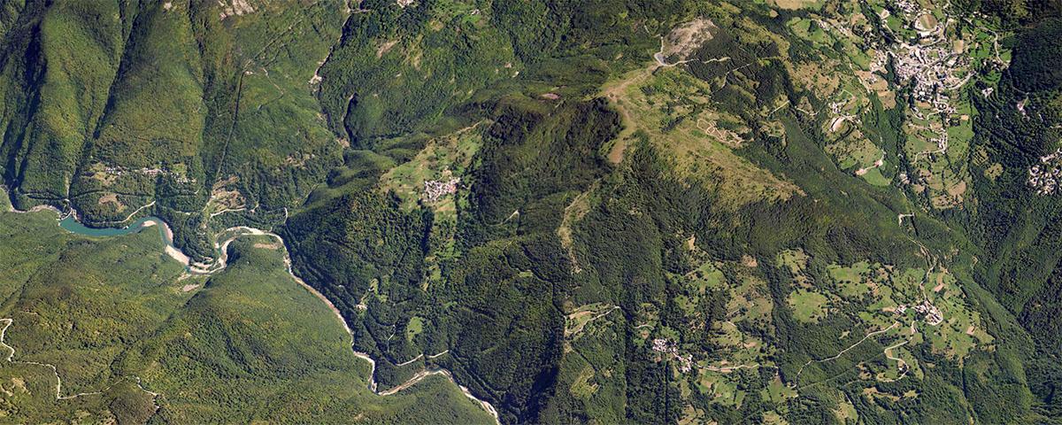 Santo Stefano d'Aveto visto dallo spazio