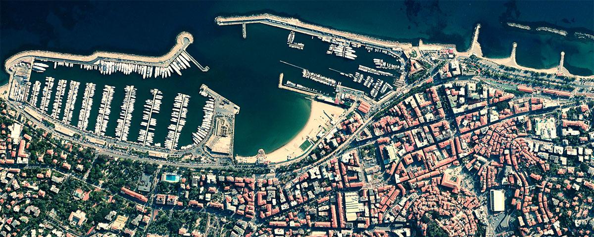 Sanremo visto dallo spazio