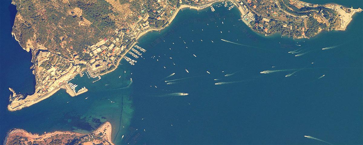 Manarola vista dallo spazio