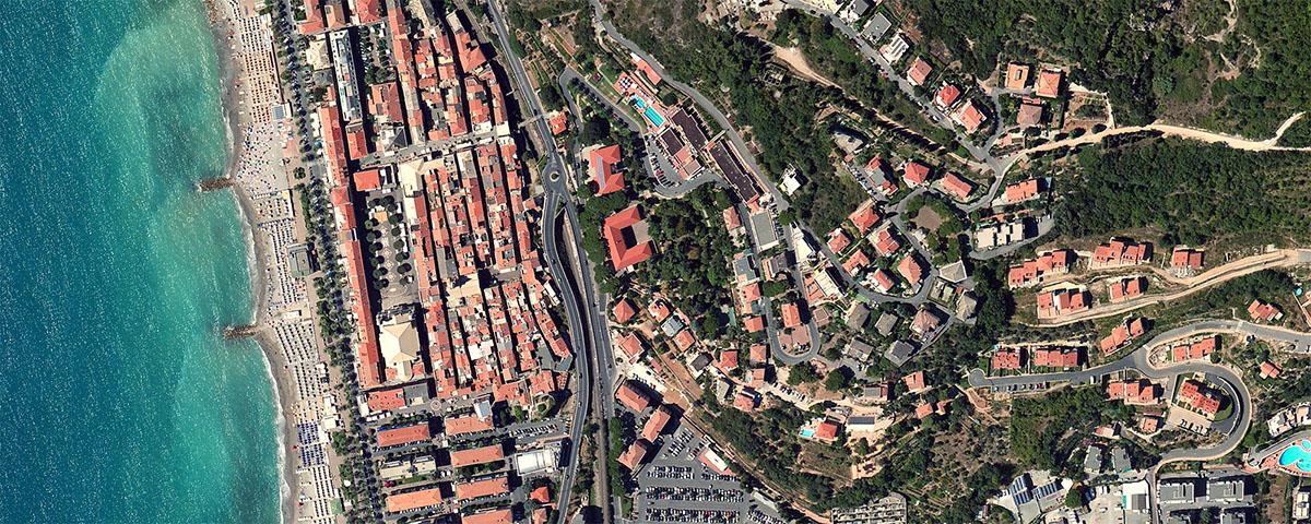 Pietra Ligure vista dallo spazio