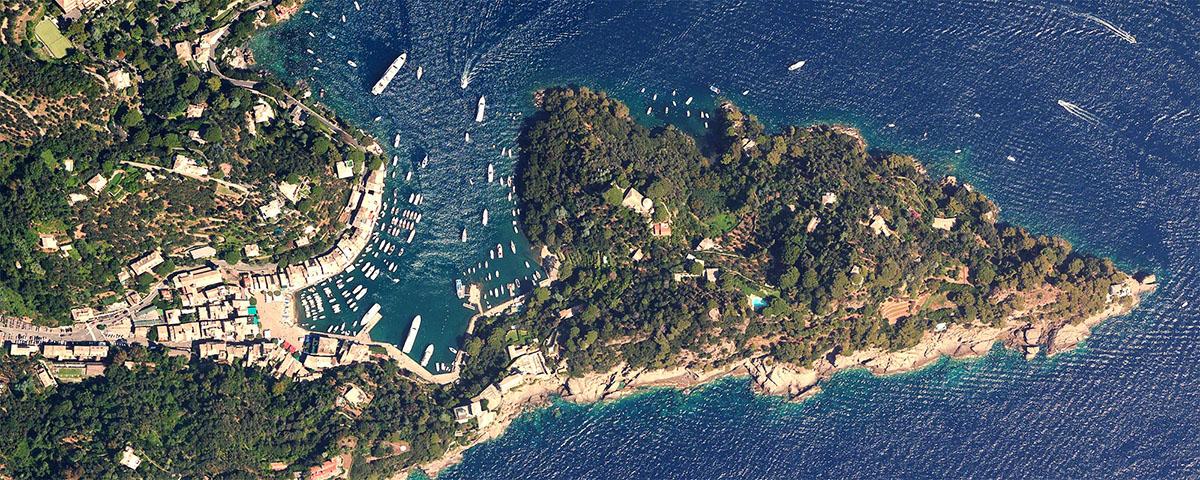 Portofino visto dallo spazio