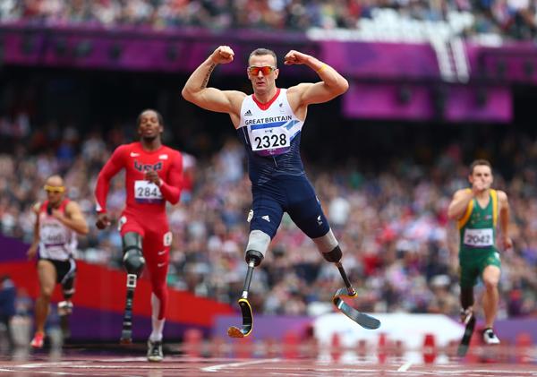 Richard Whitehead ai Giochi Paralimpici di Londra 2012