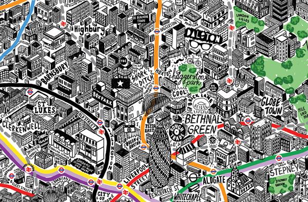 La mappa di Londra di Jenni Sparks