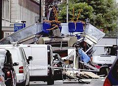 Bus distrutto a Tavistock Square
