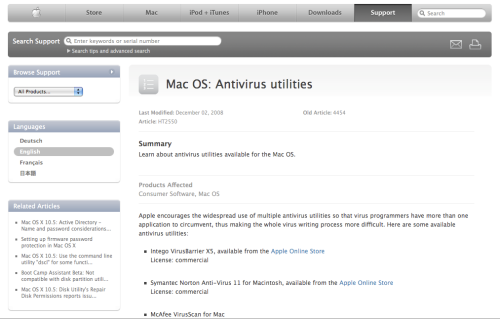 Mac OS: antivirus utilities