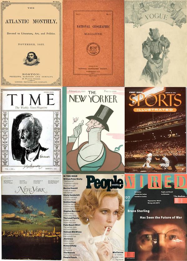 Le prime copertine dei magazine americani