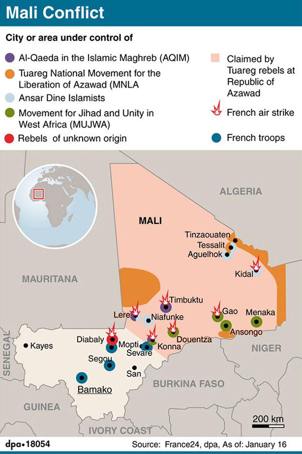 La guerra in Mali in un'infografica
