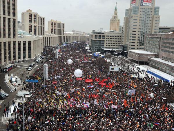 Manifestazione anti Putin a Mosca