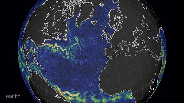 La mappa delle correnti oceaniche