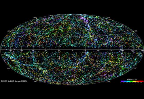La mappa dell'universo in 3D