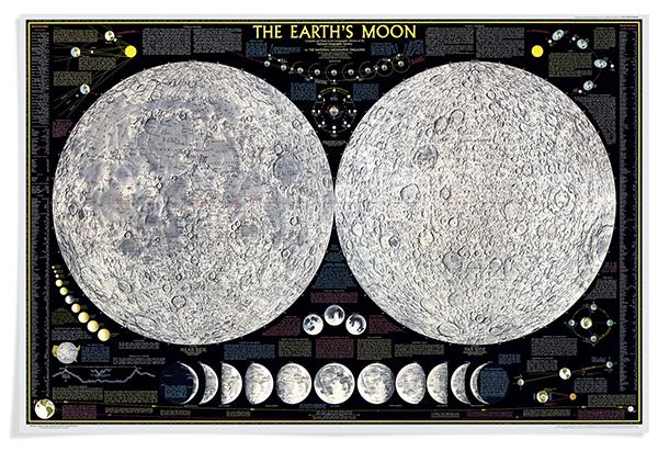 Mappa della Luna National Geographic