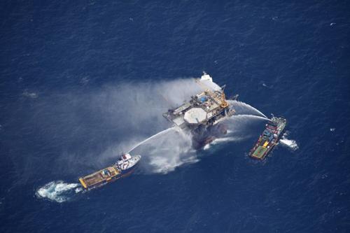 L'incendio sulla Mariner Energy