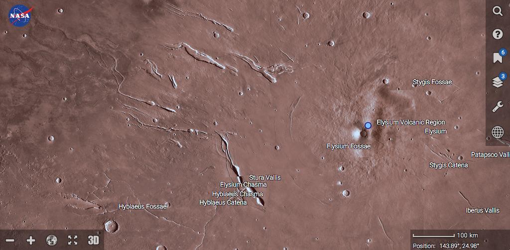 Mappa di Marte