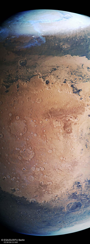 Marte fotografato dalla sonda Mars Express