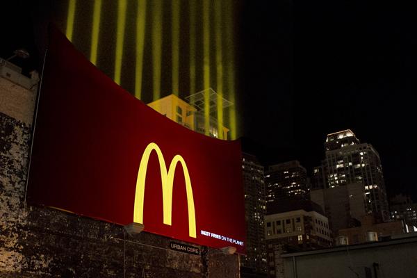 Cartellone pubblicitario McDonald's