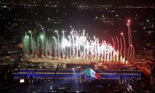 La cerimonia a Città del Messico