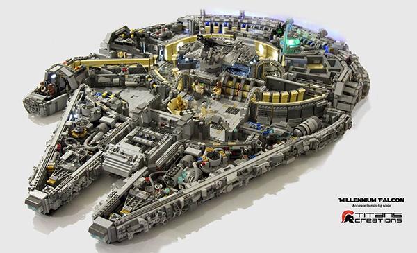 Un Millennium Falcon da 10.000 mattoncini Lego