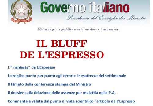 Screenshot della home page del ministero per la pubblica amministrazione e l'innovazione