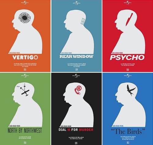 Locandine dei film di Hitchcock