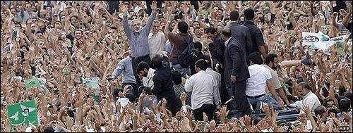 Foto delle manifestazioni a Tehran dall'account Flickr di Mousavi
