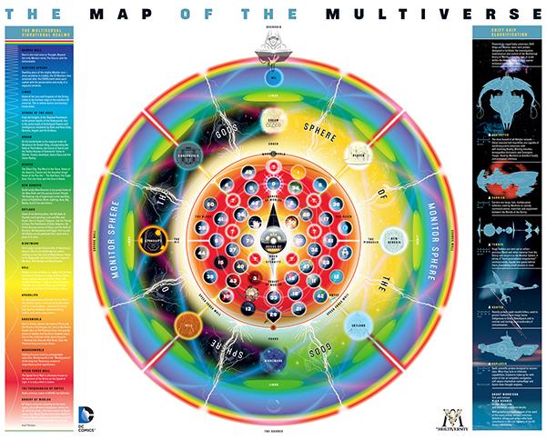 La mappa del multiverso DC