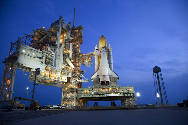 Lo Space Shuttle Atlantis pronto per la sua ultima missione