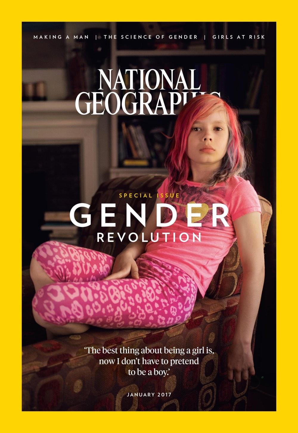 La copertina del National Geographic con una ragazzina transgender