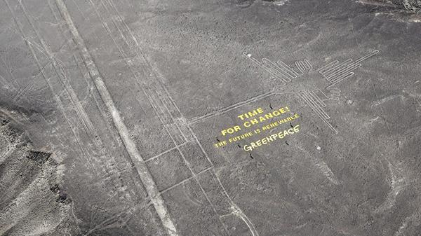 Greenpeace sulle Linee di Nazca