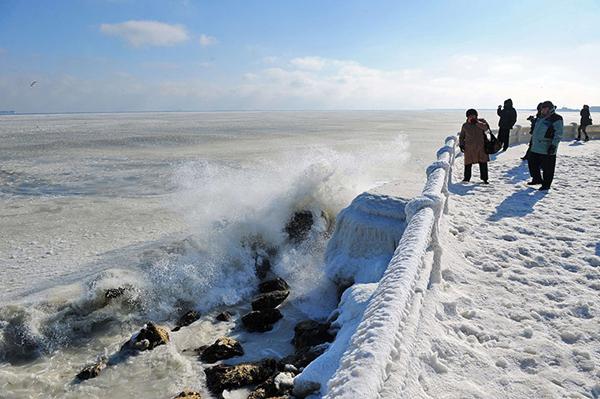 Il mare ghiacciato a Constanta