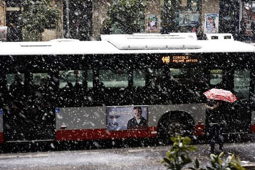 Nevicata su Roma