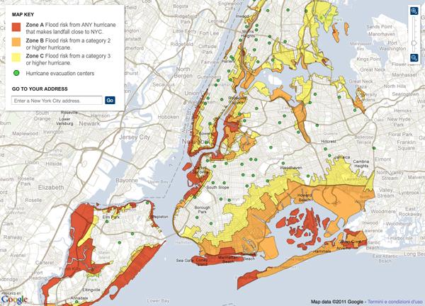 Mappa dell'evacuazione