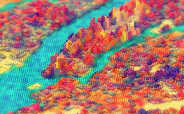 New York riprodotta con i Lego