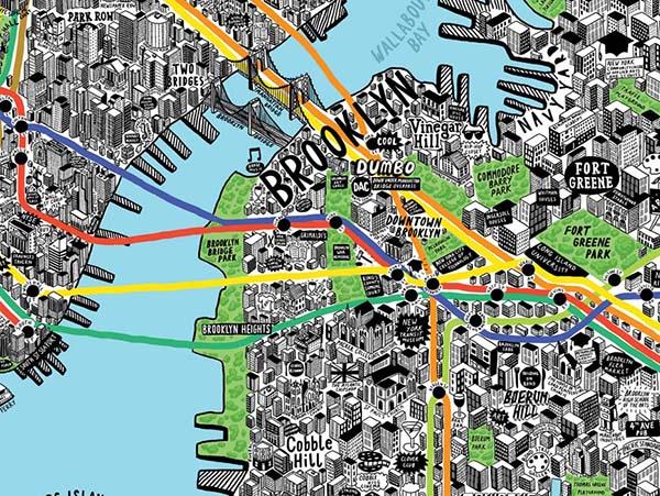 La mappa di New York di Jenni Sparks