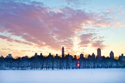 Central Park dopo la nevicata