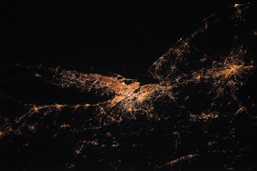 New York vista dallo spazio